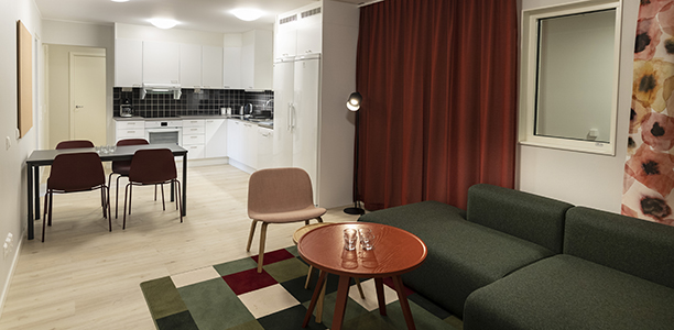 Shared 4 bedroom apartment - Common living room and kitchen