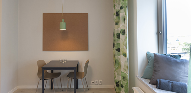 Studio with shared kitchen - Room and dining table